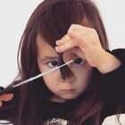 不满意自己的刘海,今天自己剪一个……🙄😜@小冰 #美妆##晒娃大赛# 美好正能量的人都在看👉#俊男美女乐开怀#