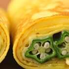 藏在鸡蛋里的小星星,高颜值的春季美食,秋葵变着花样吃起来~~#美食#