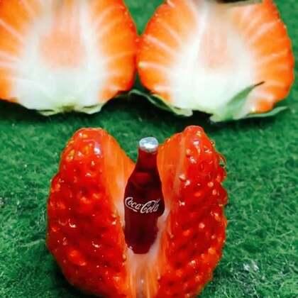 草莓可以这么吃,你们喜欢吃草莓吗?#手工##我要上热门##迷你厨房#@美拍小助手