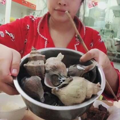 吃晚饭海边人一天不吃海鲜真的不适应哈哈。不知道你们是吗#吃秀##我要上热门@美拍小助手#