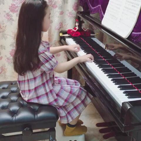 【昆(娃娃妈妈)??美拍】??布格缪勒·叙事曲??#音乐##钢...