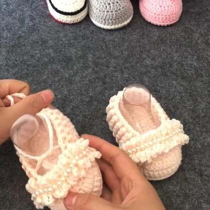 #手工##钩针编织宝宝鞋##我要上热门#气质宝宝鞋教程4