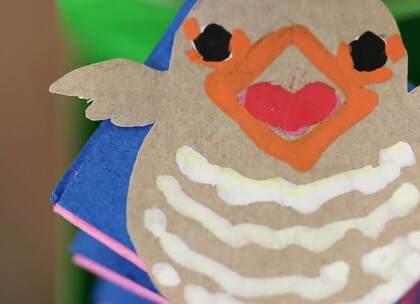 手工DIY:在这个春意盎然的季节,宝爸宝妈赶紧做一个报春的布谷鸟送给宝宝吧,盖子一打开小鸟就出来啦,能够满足宝宝的好奇心。#宝宝##育儿# @美拍小助手 贝贝粒,让育儿充满欢笑。