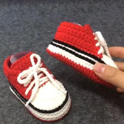 #手工##钩针编织宝宝鞋##我要上热门#宝宝球鞋教程6