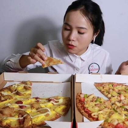 (1)吃播 必胜客新品 薄脆披萨 真的很好吃诶! 还有冰草和橙子~ 原速链接:http://www.bilibili.com/video/av22373647#吃秀#