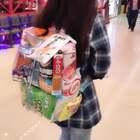 给老婆做的零食书包@可爱的金刚嫂 补偿下化妆水,就别去韩国了,我小金库没有钱啦#精选##小金刚恶搞##搞笑#