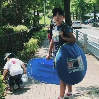 周末和朋友一起带着帐篷去玩耍💕😋孩子们好开心😃@美拍小助手 @小慧姐在日本 #我的假期日记##精选##我要上热门#