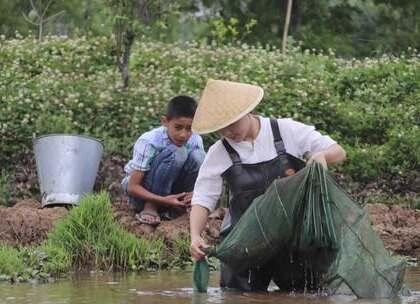 """初夏,跟弟弟一起捉了10斤小龙虾 给全家人炒了一大锅""""硬菜"""":麻辣小龙虾#美食##吃播#"""