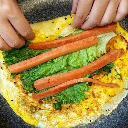 早餐煎饼好吃又简单#美食#