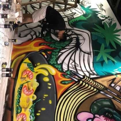 #涂鸦##graffiti#连续工作14小时,感受一下涂鸦freestyle。