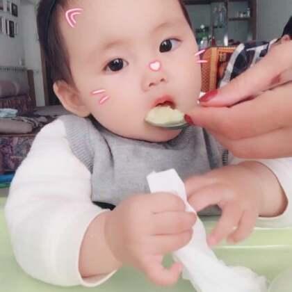 每天一个苹果 只要是吃东西的时候都格外嗨 米米的jam11_1994 🌈#宝宝##米米的吃秀#