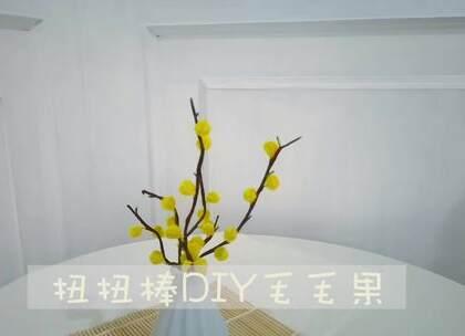 自己做的毛毛果花束,放在家里漂亮极了,成本不过几块钱,喜欢的可以试试哦,#手工##diy##毛根#
