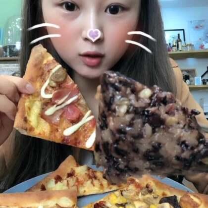 #吃秀#今天得早饭~丰盛~开心哈。心心念念得粽子,终于吃到了。还有全太仓最好吃的披萨~