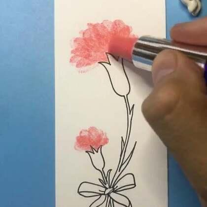 画母亲节的书签,祝天下母亲节日快乐!#精选##手绘书签##美拍最强画手#
