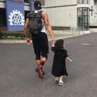 今天天使陪我打球呢☺️#宝宝##y运动##篮球#