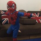 Ethan (Spider-Man) practicing the Cha Cha Slide haha, he luvs Ghetto Avengers😍😍😍#宝宝##宝宝爱跳舞#