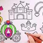 儿童绘画启蒙给南瓜车涂色 #玩乐星球##儿童绘画##宝宝#