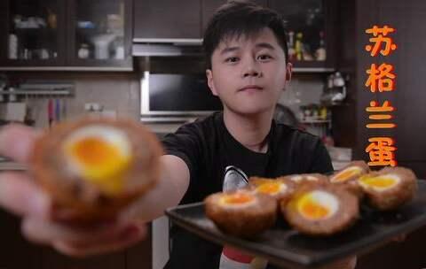 【香喷喷的小烤鸡美拍】#烤鸡厨房#酥脆多汁的苏格兰蛋😍...