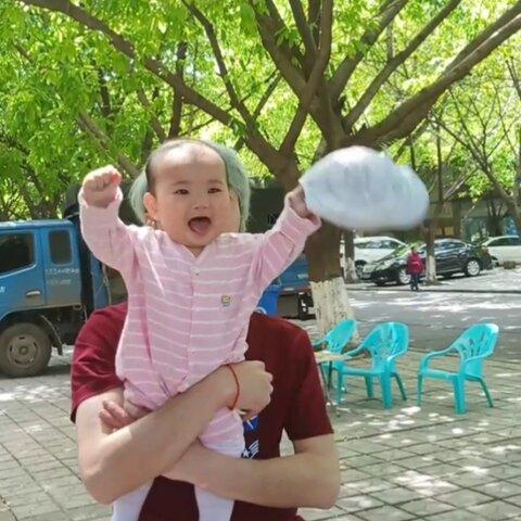 【国庆•girl👸吉米麻麻美拍】#精选##宝宝#飞起来@美拍小助手