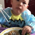 #宝宝##吃秀#简简单单吃口饭,白白胖胖就是泡!