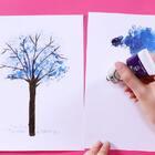 【创意小画家之彩虹树】第二集-小葩教你变身创意小画家之彩虹树!#小伶玩具##绘画##创意##彩虹##儿童#
