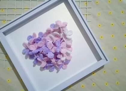 超级漂亮的爱心绣球花,做法很简单,520表白时当作礼物很不错哦,BGM:想い出は遠くの日々,#手工##diy##毛根#