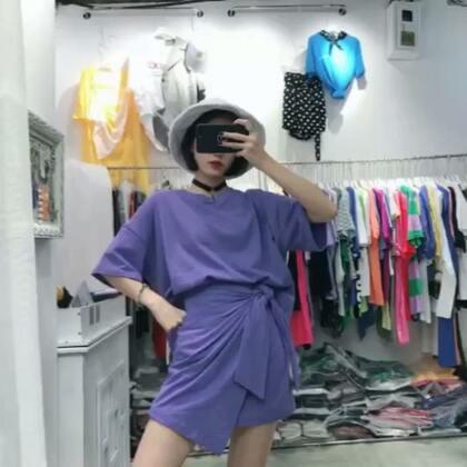 韩版套装 喜欢吗 宝宝们 喜欢的赞一个哦😘#穿秀##美拍小助手我要上热门##2018时尚夏季穿搭#