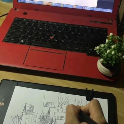 一个梦想中的房间布局,有软软的沙发,一片玻璃窗、一盏落地灯…直接在纸上画画,就能同步显示到电脑里,用起来很方便哦!#精选##绘圈##美拍最强画手#传送门@ISKN
