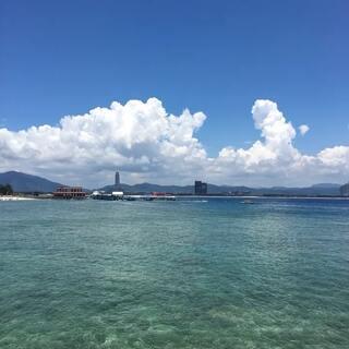 三亚海边手机自拍照都可以当桌面壁纸了,好清澈的海水