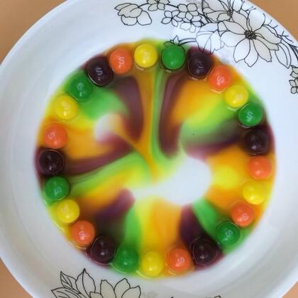 #手工#超梦幻的彩虹??,彩虹糖这样玩才够味#彩虹糖##彩虹#