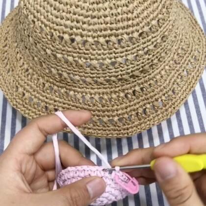 夏季镂空遮阳帽教程-5@美拍小助手 #手工#
