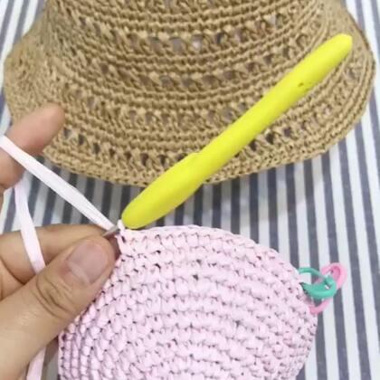 夏季镂空遮阳帽教程7@美拍小助手 #手工#