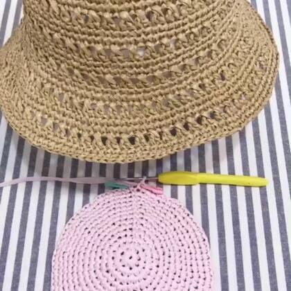 夏季镂空遮阳帽教程-8@美拍小助手 #手工#
