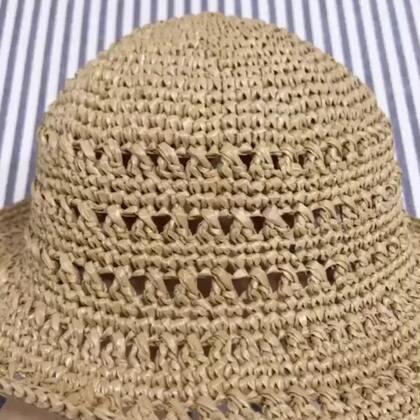 夏季镂空遮阳帽教程-11@美拍小助手 #手工#