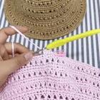 夏季镂空遮阳帽教程-14@美拍小助手 #手工#