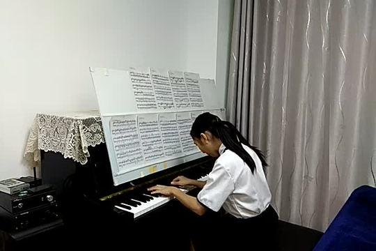《月光奏鸣曲第三乐章》贝多芬,又来挑战一下这个快曲,弹慢些, ...