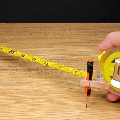 #手工#铅笔和尺子这样组合起来,很方便实用#科学小实验##尺子#