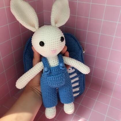 小兔子玩偶教程-3@美拍小助手 #手工#