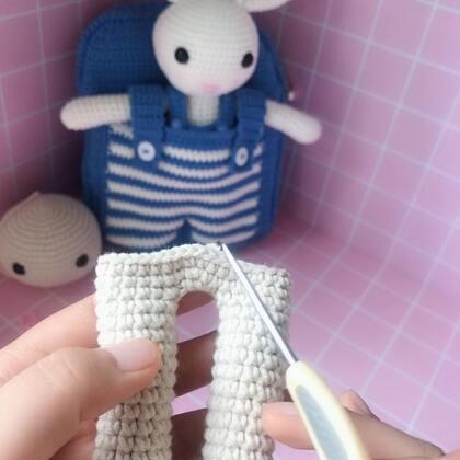 小兔子玩偶教程-14@美拍小助手 #手工#