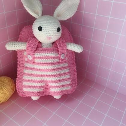 小兔子玩偶教程-32@美拍小助手 #手工#