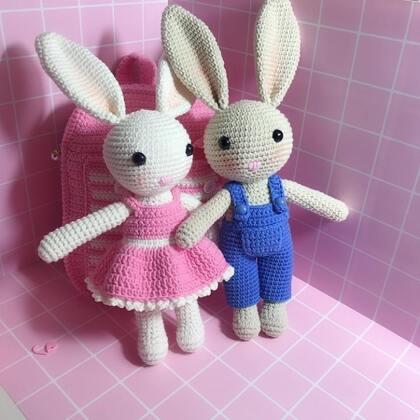 小兔子玩偶教程-40@美拍小助手 #手工#