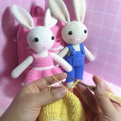 小兔子玩偶教程-43@美拍小助手 #手工#