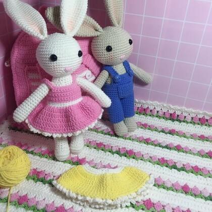 小兔子玩偶教程-44@美拍小助手 #手工#