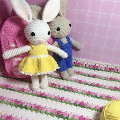 小兔子玩偶教程-46@美拍小助手 #手工#
