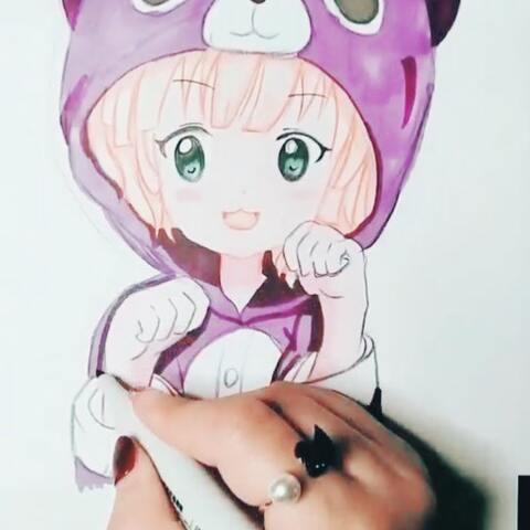 【星星雨国画手绘美拍】#动漫画