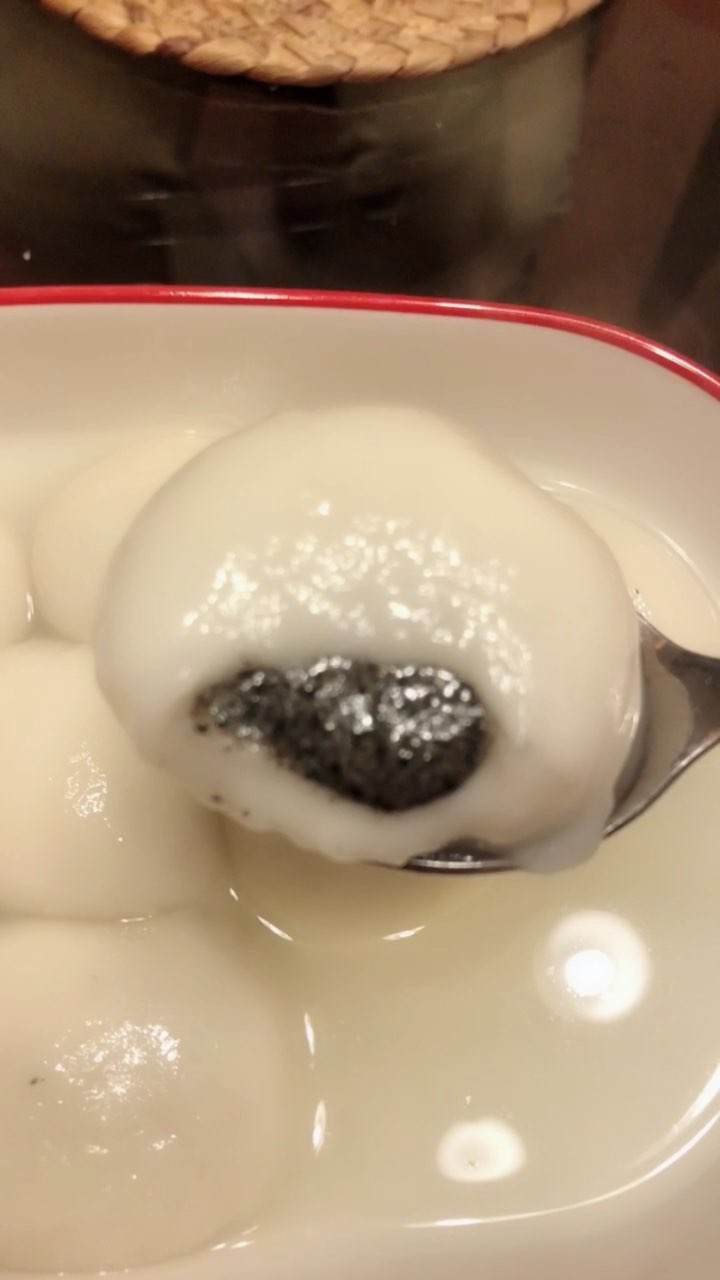 犯汤圆瘾了,小时候只吃山楂馅的,现在不好买了#哈米妈早餐打卡##吃秀#