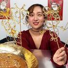 """终于学会了做""""糖画""""!中国民间传统手艺,真的不容易!#糖画##传统手艺##搞笑#"""