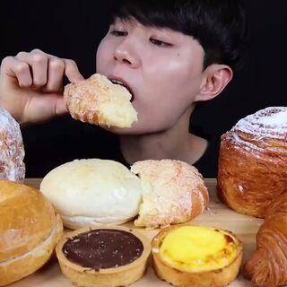 wang吃播~面包大餐????????#吃秀##韓國吃播##asmr吃播#